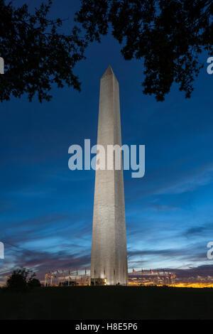 Il Monumento a Washington, Washington DC, Stati Uniti d'America Foto Stock