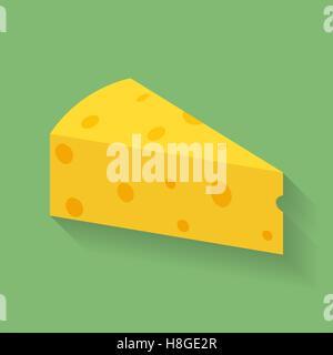 Icona del pezzo o della lastra di formaggio. Foto Stock