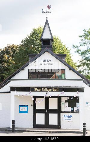 Bray Village Hall di High Street, Bray, Berkshire, Inghilterra, Regno Unito Foto Stock