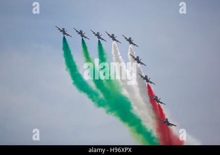 La Nazionale Italiana di Acrobazia Frecce Tricolori Foto Stock