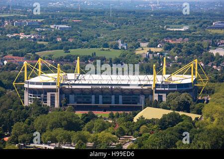 Germania, la zona della Ruhr, il Signal Iduna Park, Stadio di calcio del Borussia Dortmund Foto Stock
