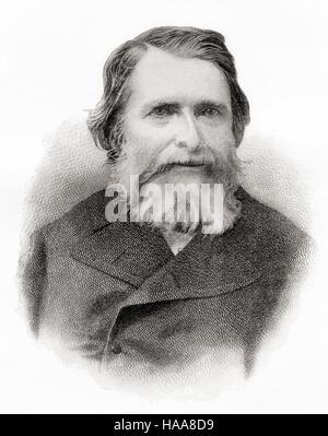 John Ruskin, 1819 - 1900. Inglese critico d'arte dell'epoca vittoriana, arte patrono, disegnatore, acquarellista, Foto Stock