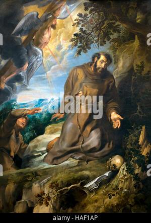 San Francesco di Assisi che riceve le stimmate, da Peter Paul Rubens, circa 1635, il museo delle belle arti, Ghent, Foto Stock