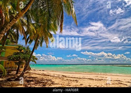Worthing Beach a Worthing, tra St. Lawrence Gap e Bridgetown, Barbados, dei Caraibi.