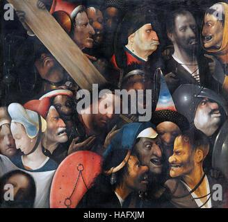 Cristo che porta la Croce di Hieronymus Bosch Jheronimus van Aken 1450-1516 Foto Stock