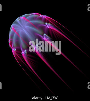 Abstract fractal jelly fish forma computer-immagine generata Foto Stock