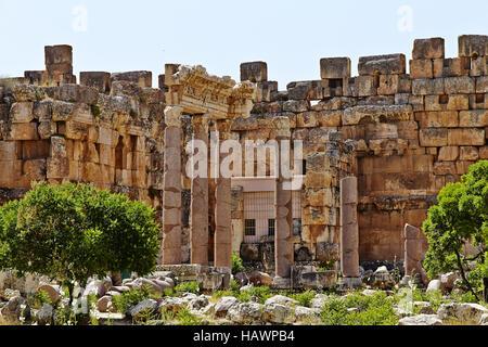 Tempio di Venere - Baalbek, Libano Foto Stock