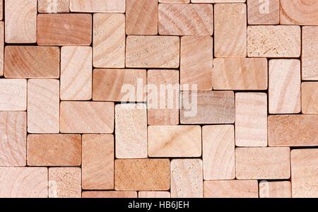 Cubi di legno sfondo Foto Stock