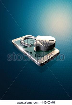 Sicurezza online, illustrazione concettuale. Foto Stock