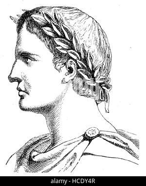 Publio Ovidius Naso, 43 BC - Annuncio 17/18, noto come Ovidio, fu un poeta romano, la storia di Roma antica, l'impero romano, Italia Foto Stock