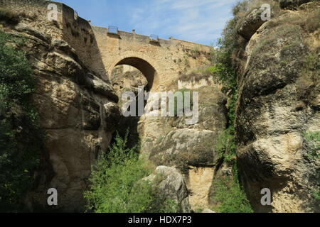 Puente Viejo Spagna Cartina.Puente Viejo Ponte Di Ronda Andalusia Spagna Foto Stock Alamy