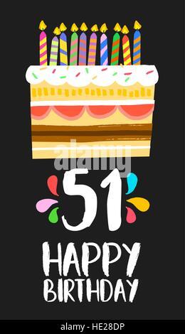 Buon Compleanno Cinquanta Uno 51 Anno Divertimento