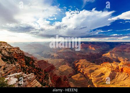 Parco Nazionale del Grand Canyon è gli Stati Uniti xv parco nazionale più antico. Chiamato un Sito Patrimonio Mondiale Foto Stock
