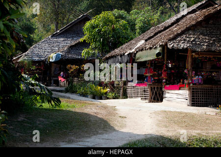 Tribù della collina in Thailandia Foto Stock