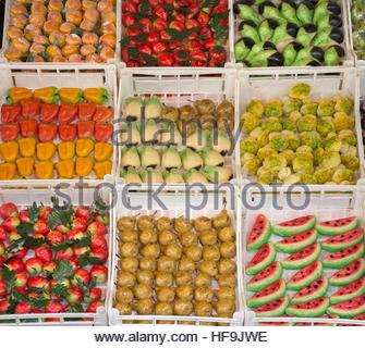 Mercato Ballaro, Palermo, Sicilia, Italia, Europa Foto Stock