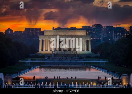 Il Lincoln Memorial, Washington DC, Stati Uniti d'America Foto Stock