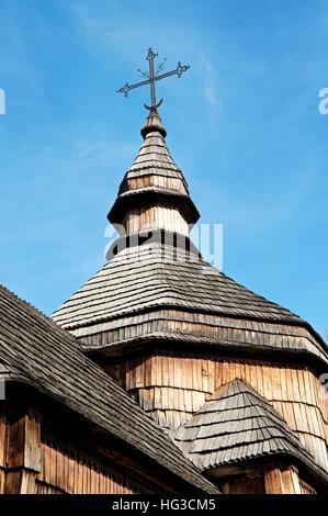 Croce sulla cupola della chiesa vecchia Foto Stock