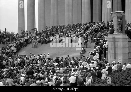 Agosto 28, 1963 - diritti civili marzo a Washington D.C. Foto Stock