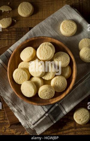 Dolci fatti in casa biscotti frollini pronto a mangiare Foto Stock