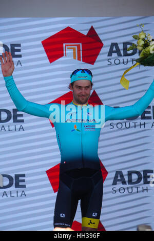 Adelaide, Australia. Il 17 gennaio 2017. Hostworks Stage 1 Unley a Lyndoch, Santos Tour Down Under. La maggior parte Foto Stock