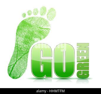 A piedi, andare, andando, passeggiate, leaf, eco, ambiente, ambiente, arte, modello Foto Stock