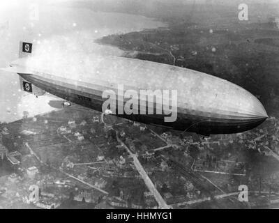 Hindenburg disastro, lakehust Naval Air Station, new jersey, USA, 1937 Foto Stock