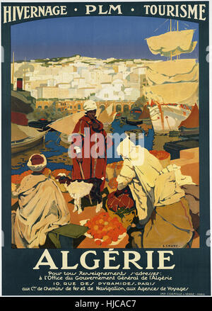 Algérie - Vintage travel poster 1920s-1940s Foto Stock