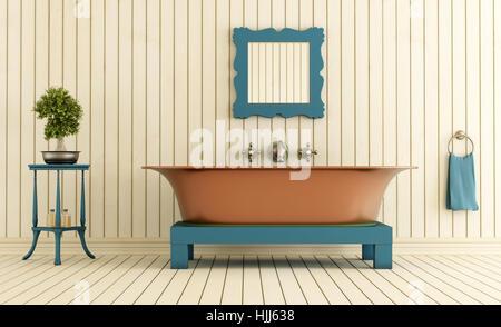 Vasca Da Bagno Vintage : Legno interno vintage rame vasca da bagno vasca doccia bagno