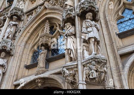 Town Hall Leuven Belgio Foto Stock