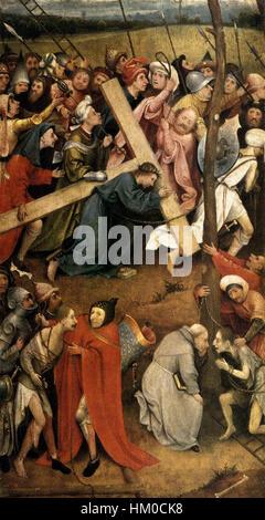 Hieronymus Bosch - il Cristo che porta la croce - WGA2498 Foto Stock