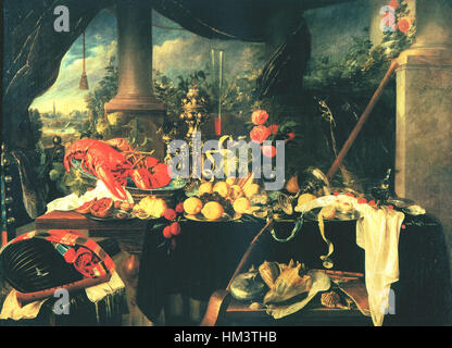 Jan-Davidsz-de-Heem-006 Foto Stock