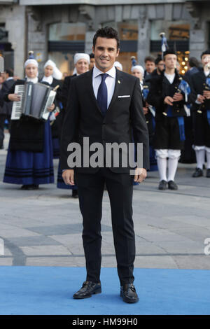 Javier Gomez Noya durante la Principessa delle Asturie Awards 2016 a Oviedo, Venerdì 21 ottobre 2016. Foto Stock