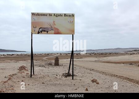 Spiaggia di agata a Luderitz in Namibia Foto Stock
