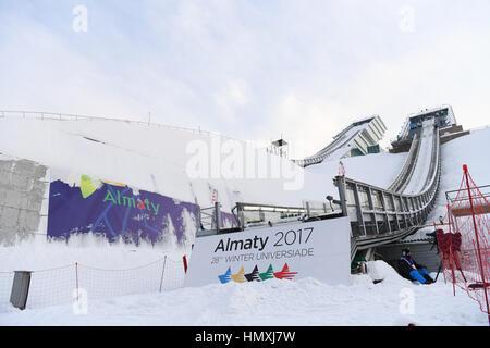 Sunkar International Ski Jumping complessa, Almaty, Kazakhstan. 5 febbraio, 2017. Vista generale, 5 febbraio 2017 Foto Stock