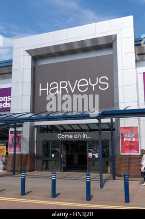 Harveys Furniture Store in Horwich, Bolton. Foto Stock