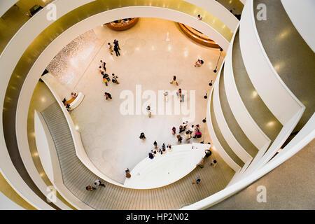Museo Guggenheim, vista interna,New York City, Stati Uniti d'America Foto Stock