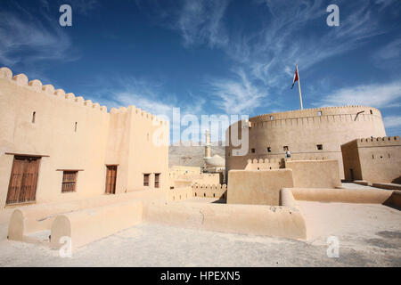 Nizwa Fort, Nizwa, regione di Ad Dakhiliyah, Oman, Asia Foto Stock