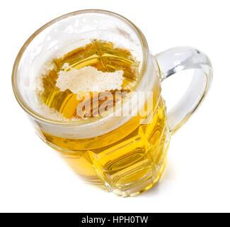 Testa di birra nella forma di Turchia e una birra.(serie) Foto Stock