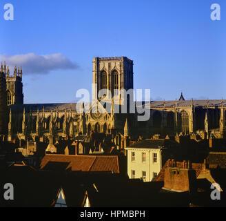 York il Ministro Cattedrale. York. Yorkshire. In Inghilterra. Regno Unito Foto Stock