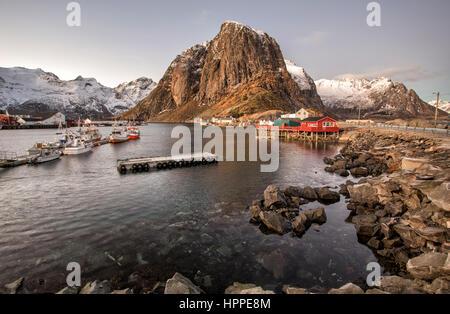 Hamnoy village, Isole Lofoten in Norvegia, Europa
