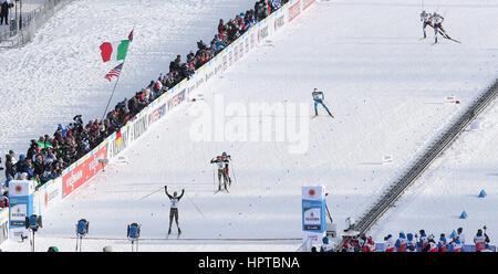 Lahti, Finlandia. 24 Febbraio, 2017. 24.02.2017 Lahti Bjoern Kircheisen (GER), FIS sci nordico campionati, combinata Foto Stock
