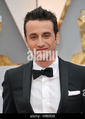 Los Angeles, California, USA. 26 Febbraio, 2017. Justin Hurwitz presso gli arrivi per il 89 Academy Awards Oscars Foto Stock