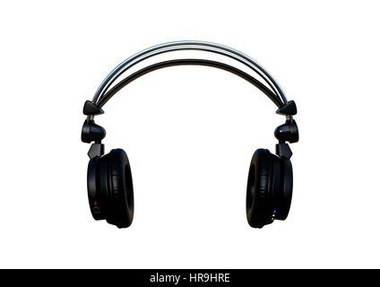 3D rendering di cuffie professionali con cavo audio la formazione di ... b114ae9e9534