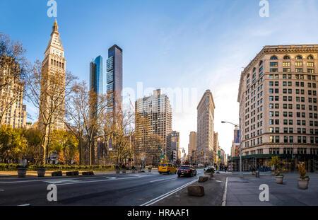 Edifici intorno al Madison Square Park - New York City, Stati Uniti d'America Foto Stock