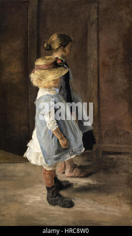 Fritz von Uhde - Kinderstudie Foto Stock