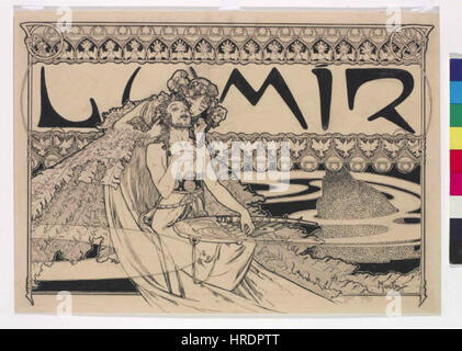 Autor Alfons Mucha 24.7.1860-14.7.1939 - Zahlavi casopisu Lumir