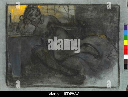 Autor Alfons Mucha 24.7.1860-14.7.1939 - Absint Studie zeny