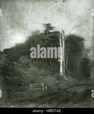 Carl Spitzweg 1808-1885 - Lesni cesta Foto Stock