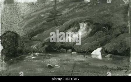 Carl Spitzweg 1808-1885 - Horsky potok Foto Stock