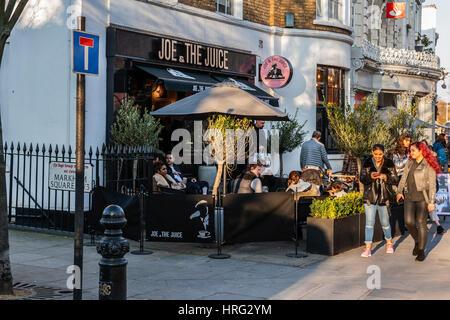 Joe il succo, Kings Road, a Chelsea, Londra Foto Stock
